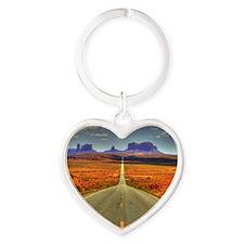 Monument Valley Heart Keychain
