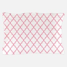 Pink Quatrefoil Pattern Pillow Case