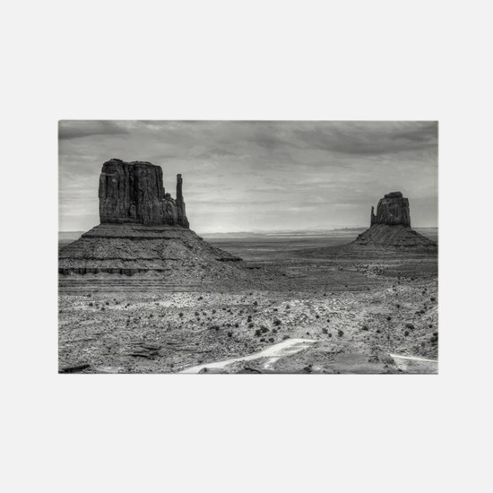 Monument Valley II Rectangle Magnet