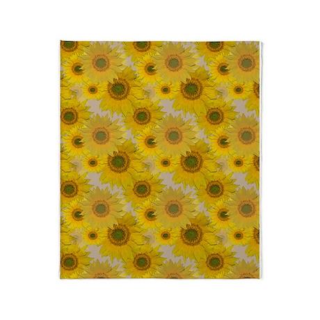 Sunflowers Throw Blanket