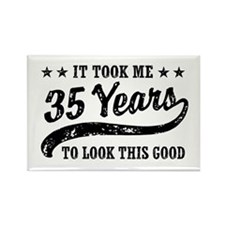 Funny 35th Birthday Rectangle Magnet