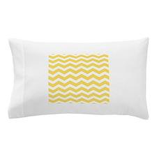 Yellow and white Chevron Pillow Case