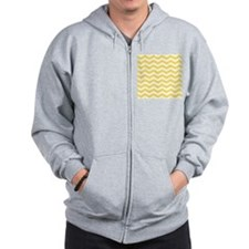 Yellow and white Chevron Zip Hoody