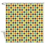 Colorful Argyle Pattern Shower Curtain