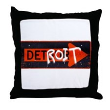 Detroit Detrour Throw Pillow