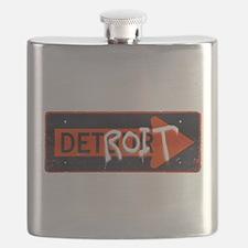Detroit Detour Flask