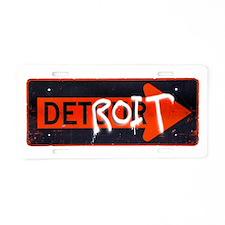 Detroit Detour Aluminum License Plate