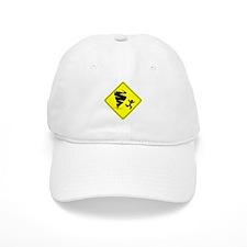 Tornado Caution Sign Baseball Baseball Cap