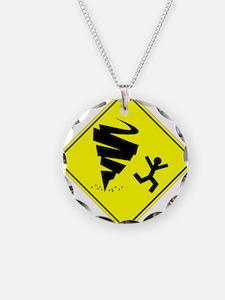 Tornado Caution Sign Necklace