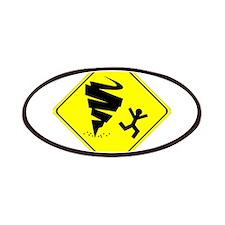 Tornado Caution Sign Patches