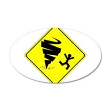 Tornado Caution Sign Wall Decal