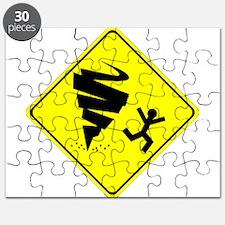 Tornado Caution Sign Puzzle
