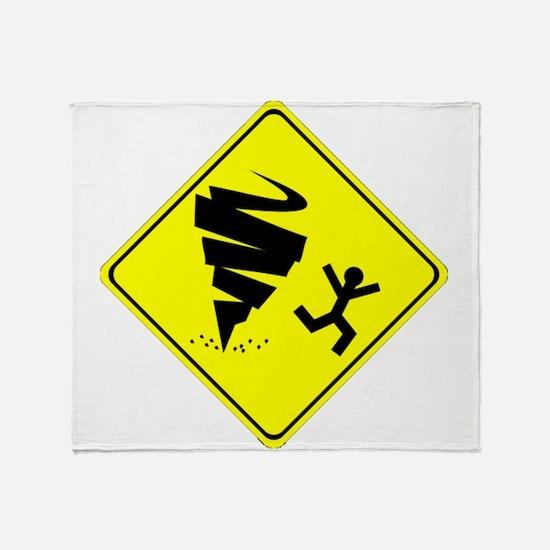 Tornado Caution Sign Throw Blanket