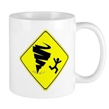 Tornado Caution Sign Mug