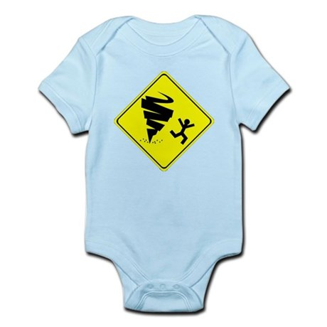 Tornado Caution Sign Body Suit