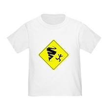 Tornado Caution Sign T-Shirt