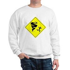 Tornado Caution Sign Sweatshirt