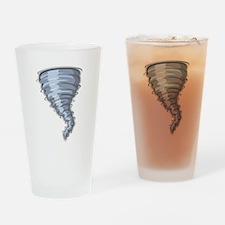 Cartoon Tornado Drinking Glass