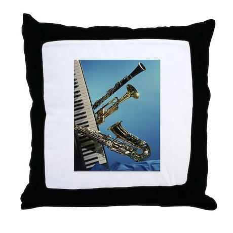Instruments Throw Pillow