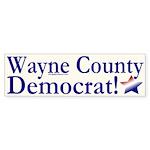Wayne County Democrat bumper sticker