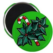 Candy Cane & Holly G Magnet
