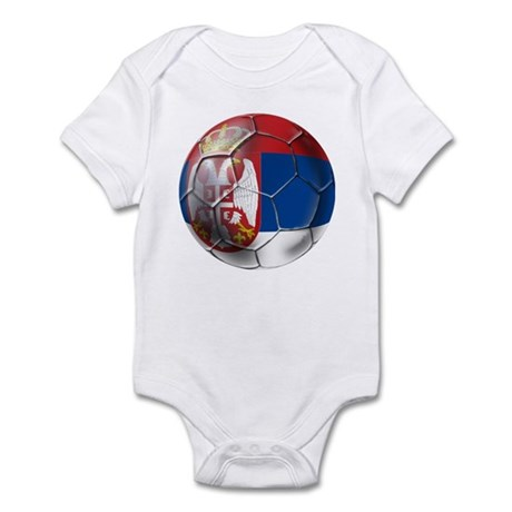 Serbian Football Infant Bodysuit