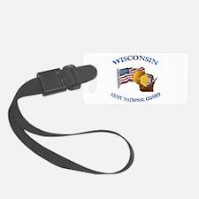 Army National Guard - WISCONSIN w Flag Luggage Tag