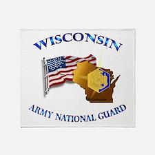 Army National Guard - WISCONSIN w Flag Throw Blank