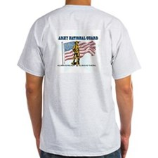 Army National Guard - WISCONSIN w Flag T-Shirt
