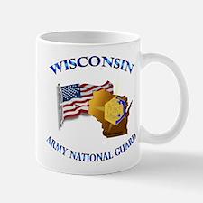 Army National Guard - WISCONSIN w Flag Mug