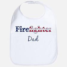 Firefighter Dad Bib