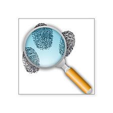 Fingerprints Under Magnifying Glass Sticker