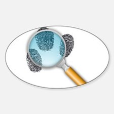 Fingerprints Under Magnifying Glass Decal