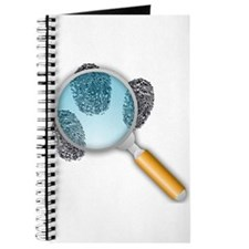 Fingerprints Under Magnifying Glass Journal
