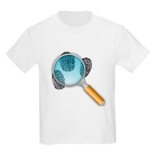 Fingerprints Under Magnifying Glass T-Shirt