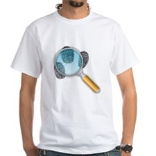 Fingerprints Under Magnifying Glass T-Shirt