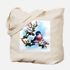 BLUEBIRD AND BLOSSOMS Tote Bag