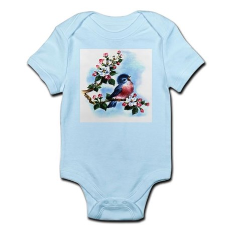 BLUEBIRD AND BLOSSOMS Infant Bodysuit