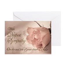 Pink rose sympathy card Greeting Card