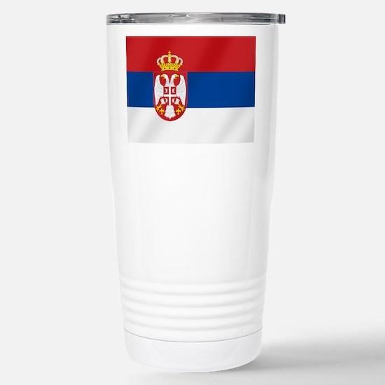 Flag of Serbia Travel Mug