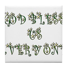 God Bless Us Every One! Tile Coaster