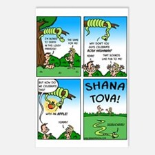 Rosh Hashanah Adam & Eve Postcards (package Of