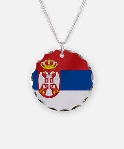 Flag of Serbia Necklace