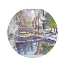 Cute Stepping stones Ornament (Round)