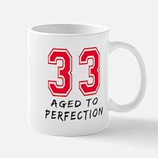 33 year birthday designs Mug