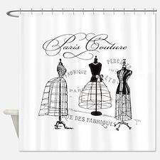 B&W Vintage Style Paris Couture Dressforms Shower