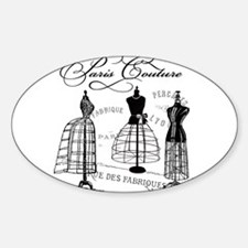 B&W Vintage Style Paris Couture Dressforms Decal