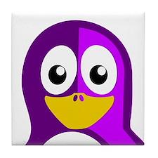 Purple Penguin Tile Coaster