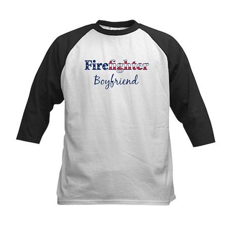 Firefighter Boyfriend Kids Baseball Jersey