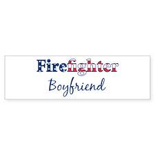 Firefighter Boyfriend Bumper Bumper Sticker